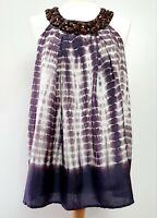 Velvet by Graham & Spencer (UK Size 12-14) 100% Silk Loose Halter Neck Top