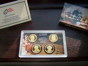 USA 2008 Presidential One Dollar 4 Coin Proof Set with Original Box and COA
