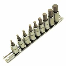 "AF Allen / Alan / Allan/ Hex Key Socket / Bit Set 3/8"" Drive IMPERIAL TE077"