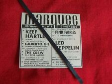 LED ZEPPELIN 1971 RARE VINTAGE GIG CONCERT ADVERT THE MAEQUEE LONDON