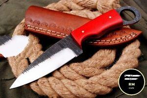 7'' SHARP NEW HANDMADE STEEL FULL TANG FIXED BLADE HUNTING KNIFE SURVIVAL KNIFE