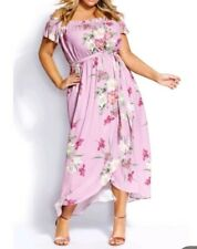 City Chic Small Pink Maxi Floral