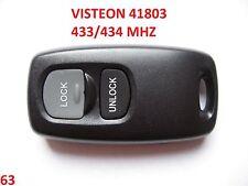 NEW MAZDA 2 3 6 ALARM REMOTE KEY FOB CONTROL VISTEON 41803 with 2 button