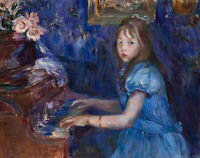 Lucie Leon At The Piano Berthe Morisot Fine Art Print on Canvas Giclee Repro SM