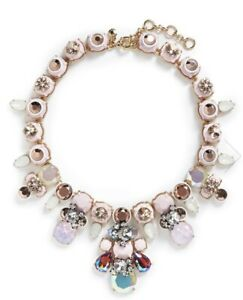 J Crew Brulee Pink Multi Crystal Necklace