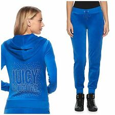 NWT Juicy Couture Tracksuit  Women Velour Embellished Jacket Jogger Pants xsmall