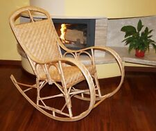 Rocking Chair Natural Wicker Rattan adult size HAND MADE