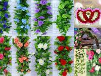 7.87FT new Flower Artificial Ivy Leaf Garland Plants Vine Fake Foliage Home rose