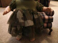 handmade bitty baby girl camoflage netting dressw cotton top c53