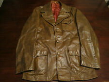 Vtg Mens Golden State Leather Jacket Size 38 Fight Club Western Mod Indie Coat