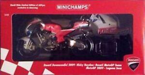 MINICHAMPS 123 090169 DUCATI DESMO GP9 Nicky HAYDEN Laguna Seca MotoGP 2009 1:12