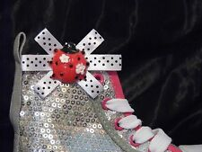 2 Kids Red Ladybird Clips for Shoes
