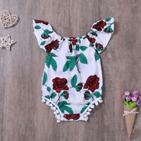 Lovely Clothes Newborn Infant Baby Girl Jumpsuit Bodysuit Floral Romper Outfits