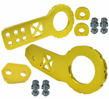 JDM Front Rear Anodized Billet CNC Aluminum Racing Towing Hook Tow Kit Gold Y165