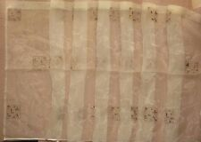 """Beige gold embroidered organza cafe curtain fabric 90 cm (35"""") drop"""