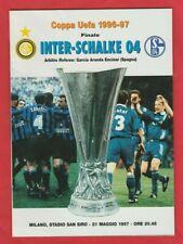 Orig.PRG   UEFA Cup 1996/97  FINALE   INTER MAILAND - FC SCHALKE 04  !!  RARITÄT