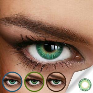 Jahres Farbige Kontaktlinsen RAINBOW GREEN (DREAMY GRÜN) - (+/- 0.00 ohne Dioptr