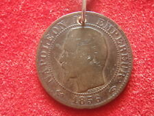 New listing Junk Drawer - Not Junk - Old Coin Necklace - 1856 France - 164 Years Old - Look!