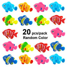 20pcs Aquarium Fake Fish Float Toy Decoration Vivid Fish Tank Landscape Ornament
