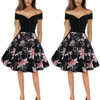 d57163fb1cd4d Womens Style 50s Rockabilly Retro Swing Pinup Evening Party Skater ...