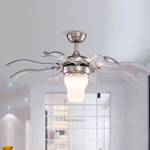 """42"""" Ceiling Fan Light LEDs w/ Remote Control Modern Style Collapsible Home Decor"""