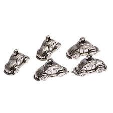 3D car Tibetan Silver Bead charms Pendants 5pcs 22*10mm