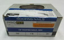 """National Nail Pro Fit 7/8"""" Hot Dip Galvanized Roofing Nails HDG - Qty 261"""