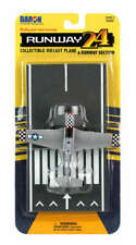 Daron Runway24 Diecast Metal Toy with Runway Section - P51D Silver