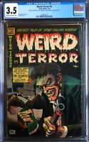 Weird Terror #9 Don Heck Cover 1954 Comic Media CGC 3.5