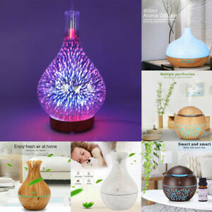 Electric Air Diffuser Aroma Oil Humidifier LED Night Light Home Relax Defuser UK