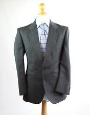 Burton Mens Grey Striped Wool Blend Suit Jacket 40 (Regular)