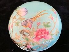Antique Chinese famille rose porcelain box Qianlong mark wax seal authenticity