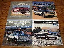 Original 1984 1985 1986 1987 Ford F-Series Pickup Brochure Lot of 4 84 85 86 87