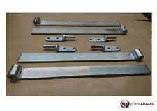 "4 x Trailer 18"" Straight Hinge & Gudgeon Pin Zinc Plated Set Tipper Truck HGV"