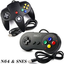 N64& SNES USB Controller Game Pad Joypad for Windows PC Mac Raspberry Pi 3 Black