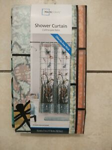 Mainstays Stained Glass Meadow PEVA Shower Curtain, 70 x 72, Multicolor