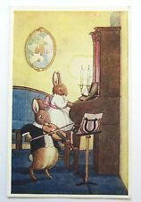A/S Margaret Tempest DUET Violin Piano RABBITS Play Music MEDICI Postcard