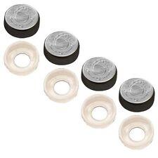 4 Black Custom License Plate Frame Screw Snap Caps Covers 45 Auto Bullet S