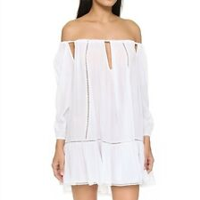 MLM Freda Off The Shoulder Dress in White Size L RRP $277