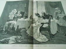 Grande Gravure 1883 - Camille Desmoulins d'après tableau de Flameng