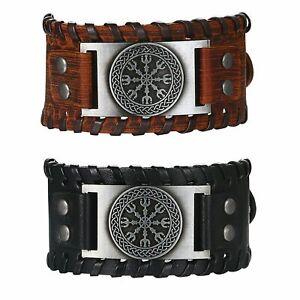 Viking Norse Vegvisir Nordic Bracelet Compass Bangle Celtic Pagan Amulet Jewelry