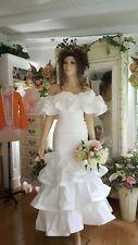 "Mermaid wedding dress White White Size small petite  shoulder to hem 50 """