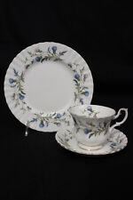 3pc Vintage Royal Albert Bone China BRIGADOON Thistle Pattern Cup, Saucer, Plate