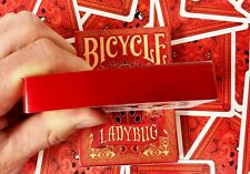 Ladybug Red Gilded Bicycle Playing Cards Poker Size Deck Custom Limited New