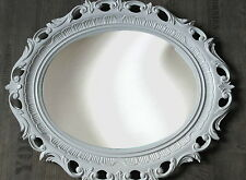 Cadre d'image blanc ovale baroque grand photo ancien 58x68 avec verre