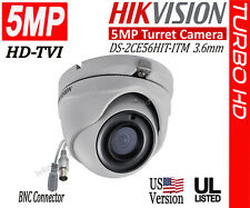 HIKVISION 5MP HD Dome Camera DS-2CE56H1T-ITM HD-TVI 3.6mm IR 20m UL Listed
