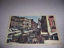 1940s CALLE 5 DE MAYO STREET SCENE MEXICO CITY VTG POSTCARD