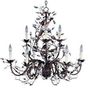 Maxim Lighting Elegante 9-Light Chandelier Oil Rubbed Bronze - 2852OI