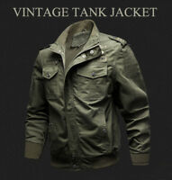 Men's Military Army Pilot Bomber Jacket Long Sleeve Tactical Coat Outwear Beamy