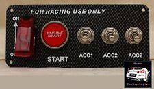 Carbon Fiber Race Start Button & Switch Panel *Skyline WRX 180 200 SX Track GTR*